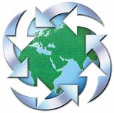 Gerecycleerde Wereld stock afbeelding