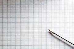 Geregeld Oefenboek met Pen Stock Fotografie