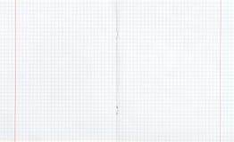 Geregelde die dubbel-pagina met rode marge wordt uitgespreid Stock Foto