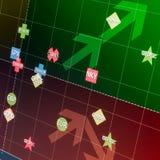 Geregelde financiële grafiek met markeringen Royalty-vrije Stock Foto's