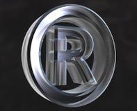 Geregistreerd symbool in glas Royalty-vrije Stock Foto