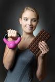 Gereizt durch Schokolade Lizenzfreies Stockfoto