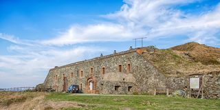 Geremia-Fort ist eine Militärfestung westlichen Ligurier Apennines-, Genua-Binnenlands und der Provinz, Italien lizenzfreies stockbild