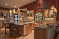 Geremodelleerde Keuken royalty-vrije stock fotografie
