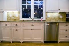 Geremodelleerde Luxueuze Moderne Keuken Stock Foto