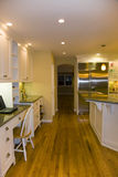 Geremodelleerde Luxueuze Moderne Keuken Royalty-vrije Stock Foto