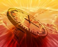 Gerencia de tiempo global Foto de archivo