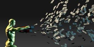Gerencia a riqueza ilustração stock