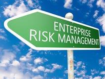 Gerenciamento de riscos empresariais ilustração stock