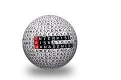 Gerenciamento de riscos empresariais 3d do ERM Fotografia de Stock