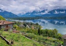 Gerencie Lario no lago Como, Lombardy imagens de stock