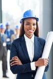 Gerente africano da construção Fotos de Stock Royalty Free