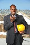 Gerente afro-americano da construção Fotografia de Stock Royalty Free