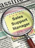 Gerente agora de aluguer do apoio das vendas 3d Fotografia de Stock Royalty Free