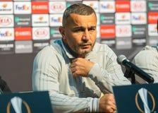 Gerente azerbaijano do futebol e jogador de futebol anterior Gurban Gurbanov fotografia de stock royalty free