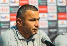 Gerente azerbaijano do futebol e jogador de futebol anterior Gurban Gurbanov imagem de stock