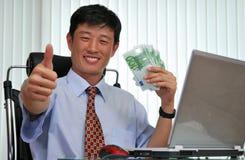 Gerente bem sucedido no escritório Fotografia de Stock Royalty Free