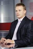 Gerente do repórter e da televisão fotografia de stock royalty free