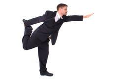 Gerente e ioga Imagem de Stock Royalty Free