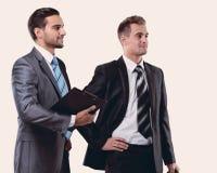 Gerente e o advogado com originais Fotografia de Stock Royalty Free