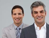 Gerente e seu empregado em uma linha fotos de stock