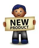 Gerente engraçado dos desenhos animados do produto novo Fotos de Stock Royalty Free
