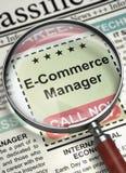 Gerente Job Vacancy do comércio eletrônico 3d Fotografia de Stock