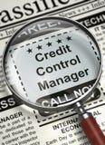 Gerente Job Vacancy do controle de crédito 3d Imagem de Stock