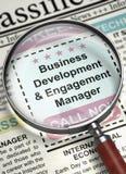 Gerente Join Our Team do desenvolvimento de negócios e do acoplamento 3d Fotos de Stock