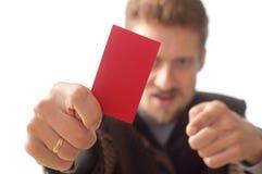 Gerente que mostra o cartão Imagem de Stock