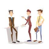 Gerente Set do homem de negócio, caráter de Full Length Cartoon do homem de negócios Imagens de Stock