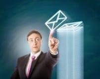 Gerente sobrecarregado Stacking Virtual Documents imagem de stock royalty free