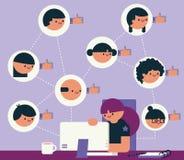 Gerente social dos meios ilustração royalty free