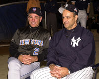 2000 gerentes Bobby Valentine e Joe Torre dos world series Imagem de Stock Royalty Free