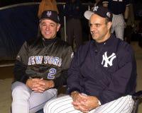 2000 gerentes Bobby Valentine e Joe Torre dos world series Imagem de Stock Royalty Free