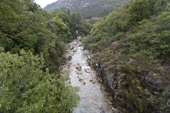 Geres National Park. Rio Homem at Geres National Park, in northern Portugal Stock Image