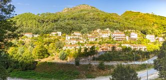Village in the mountain. Geres village is a scenic place in the north mountains of Portugal stock photo
