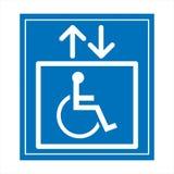Gereserveerd slechts voor gehandicapten Royalty-vrije Stock Foto