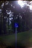 Gereserveerd slechts voor gehandicapten Stock Fotografie