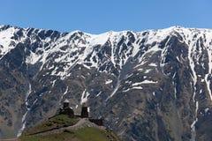 Gergeti Church. Mountains. Stepantsminda. Georgia. Royalty Free Stock Images