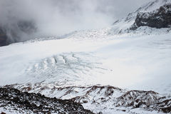 Gergeti glacier (View from Betlemi Hut) Stock Photos