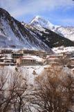 Gergeti and Mount Kazbek in winter Royalty Free Stock Image