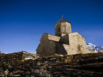 The Gergeti Trinity Church Stock Photo