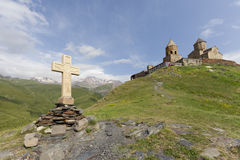 Gergeti Trinity Church, Georgia Stock Photography