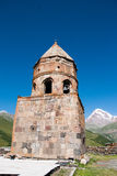Gergeti Trinity Church in Georgia Stock Photos