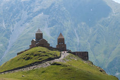 Gergeti Trinity Church - Kazbegi Stock Images