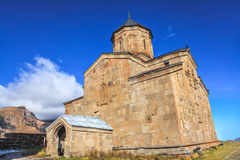 Gergeti Trinity Church on Mount Kazbek Stock Images