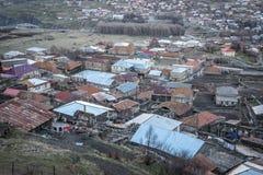 Gergeti village Royalty Free Stock Photo
