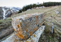 Gergeti village Stock Images