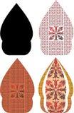 Gergunung è la progettazione di abitante di Giava per il kulit del wayang Immagini Stock